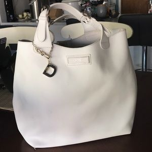 DKNY safiano Leather in white